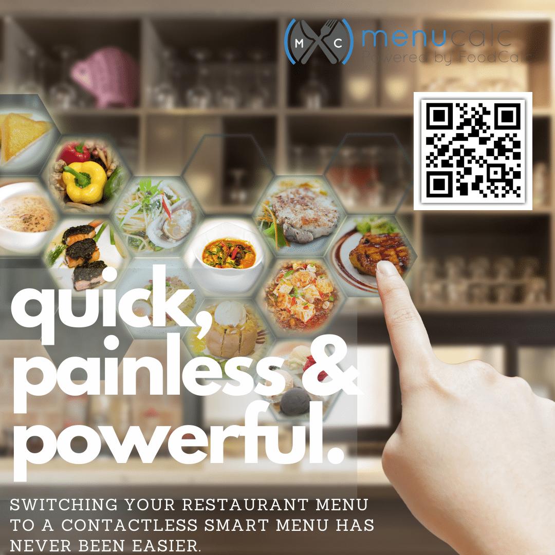 smart menu for restaurants